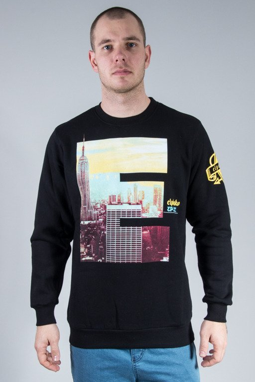EL POLAKO CREWNECK E CITY BLACK