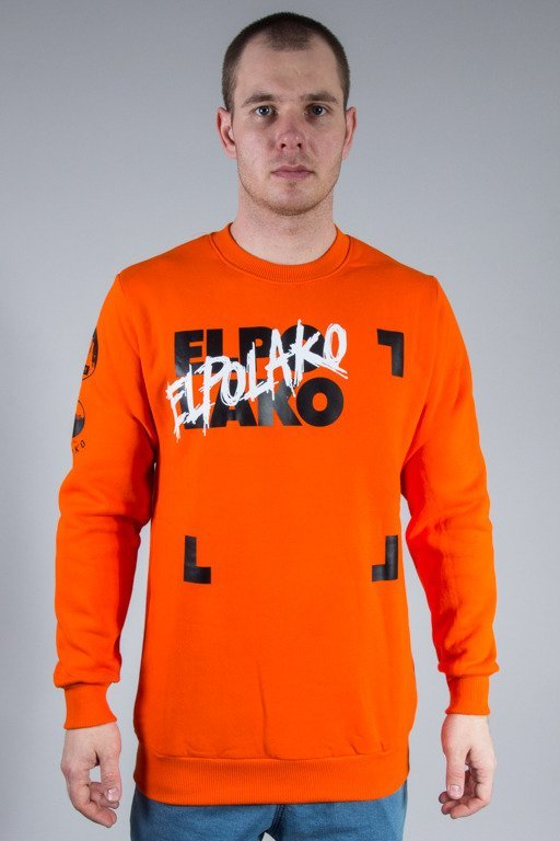 EL POLAKO CREWNECK ELPO BLM ORANGE