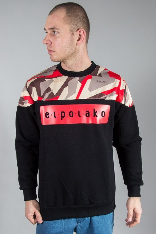 EL POLAKO CREWNECK HALF TRIANGLE CAMO RED