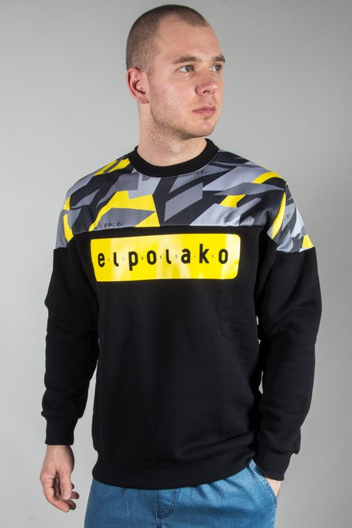 EL POLAKO CREWNECK HALF TRIANGLE CAMO YELLOW