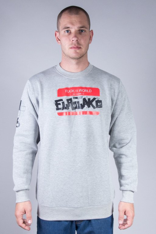 EL POLAKO CREWNECK HELLO MY NAME IS MELANGE