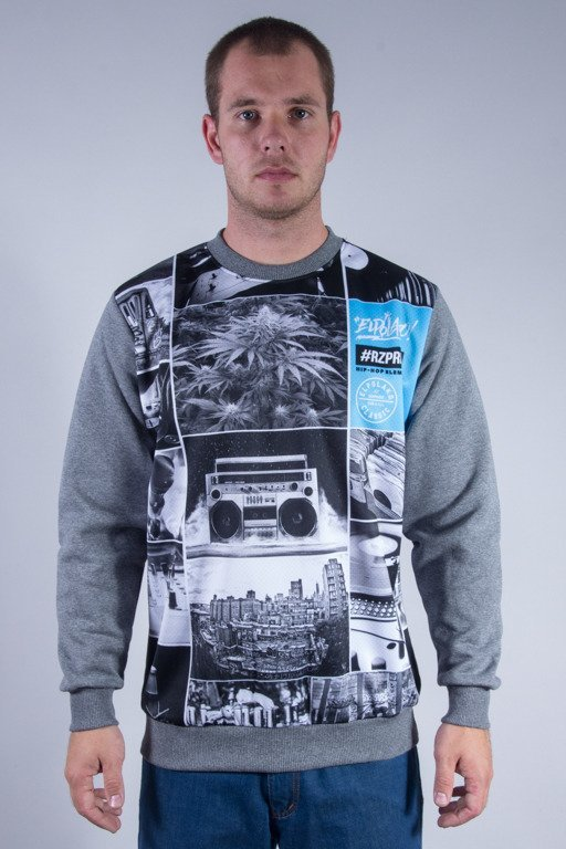 EL POLAKO CREWNECK HIP HOP ELEMENTS GREY