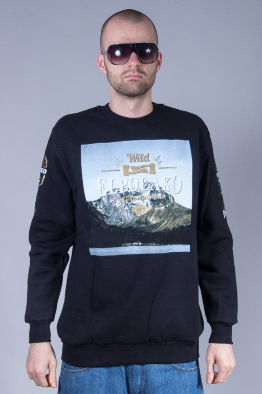 EL POLAKO CREWNECK MIND BLACK
