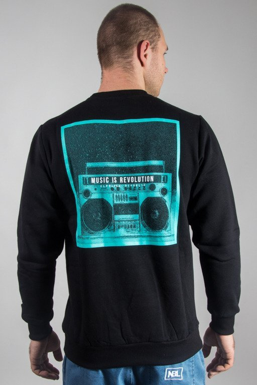 EL POLAKO CREWNECK MUSIC REVOLUTION BLACK