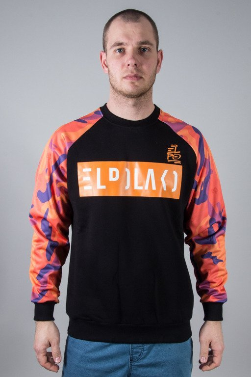 EL POLAKO CREWNECK ORANGE SLEEVE BLACK