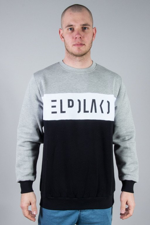 EL POLAKO CREWNECK PREMIUM CUT GREY-BLACK