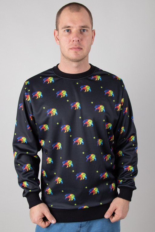EL POLAKO CREWNECK PREMIUM MULTI REPUBLIC BLACK