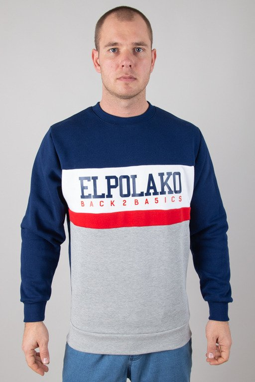 EL POLAKO CREWNECK SCHOOL NAVY