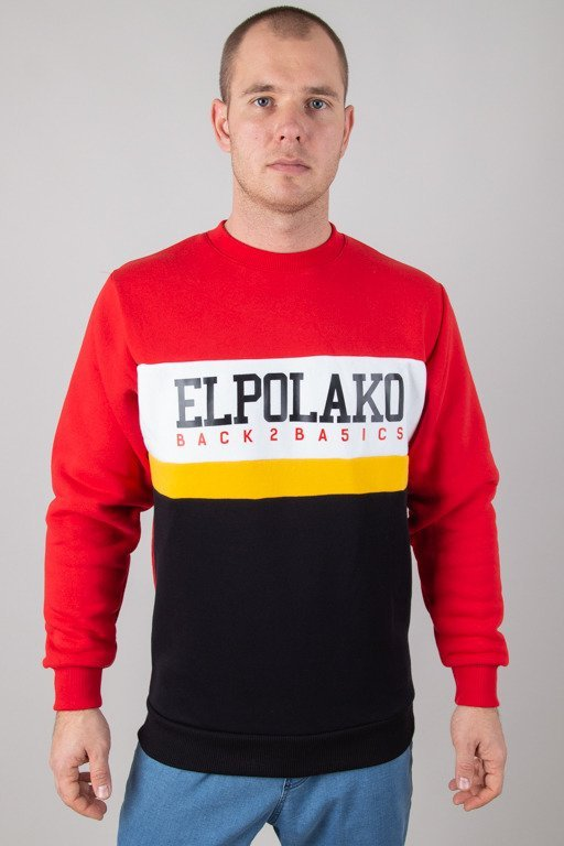 EL POLAKO CREWNECK SCHOOL RED