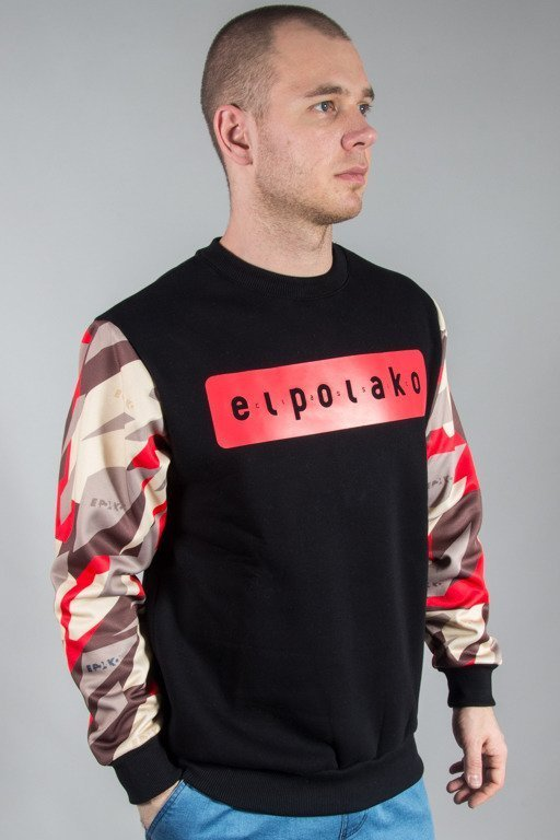 EL POLAKO CREWNECK SLEEVE TRIANGLE CAMO RED