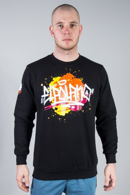EL POLAKO CREWNECK SPLASH BLACK