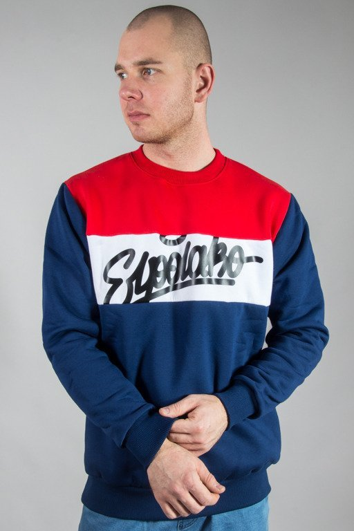 EL POLAKO CREWNECK THREE COLORS NAVY-RED