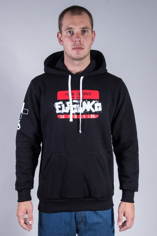 EL POLAKO HOODIE HELLO MY NAME IS BLACK