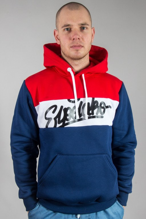 EL POLAKO HOODIE THREE COLORS NAVY-RED