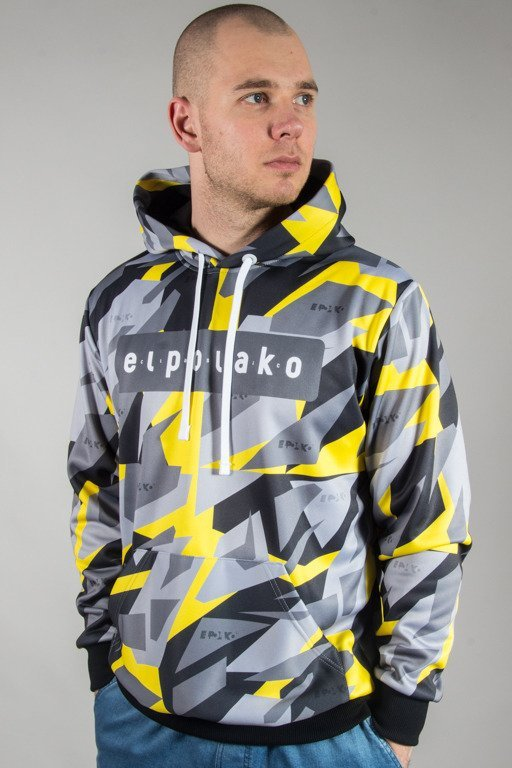 EL POLAKO HOODIE TRIANGLE MORO YELLOW