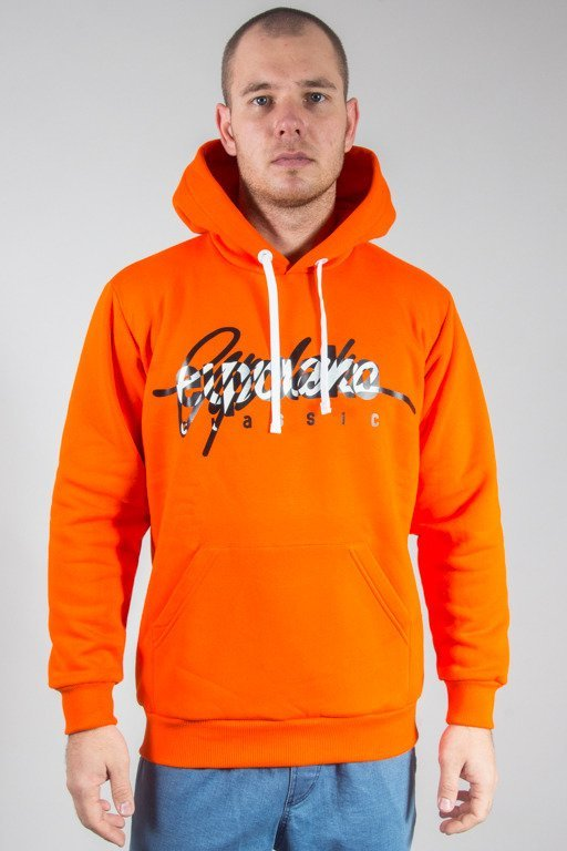 EL POLAKO HOODIE WRITTEN ORANGE