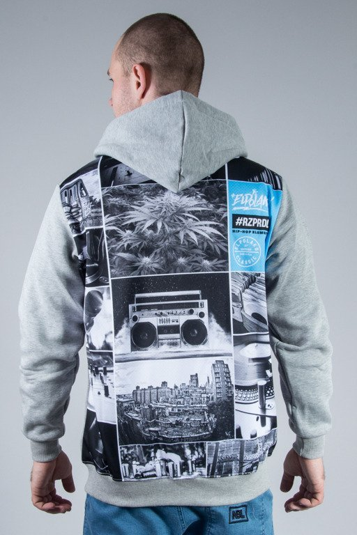 EL POLAKO HOODIE ZIP HIP HOP ELEMENTS MELANGE