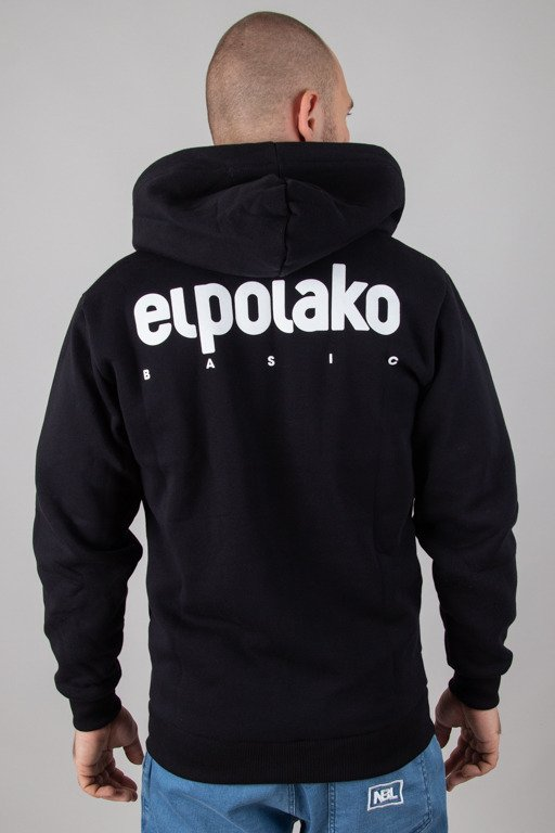 EL POLAKO HOODIE ZIP LITTLE CLASSIC BLACK