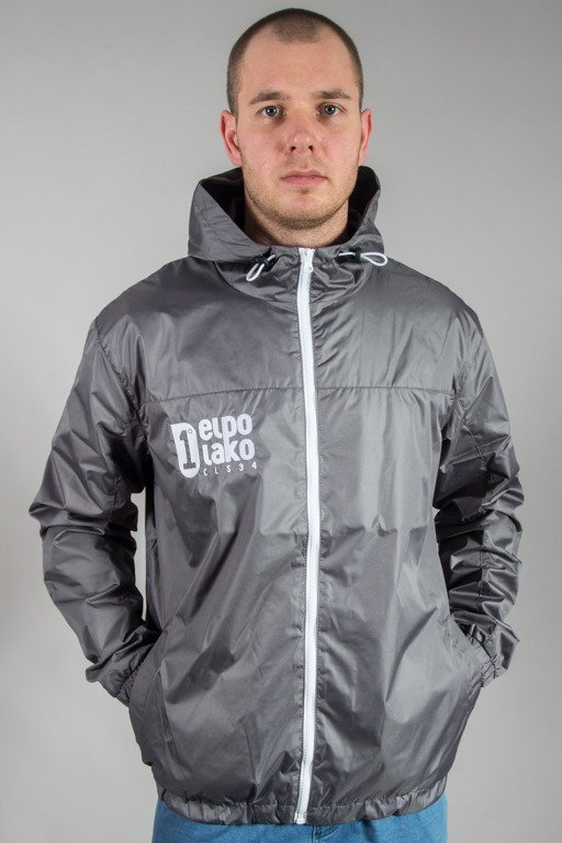 EL POLAKO JACKET WIATRÓWKA ZIP EP GREY