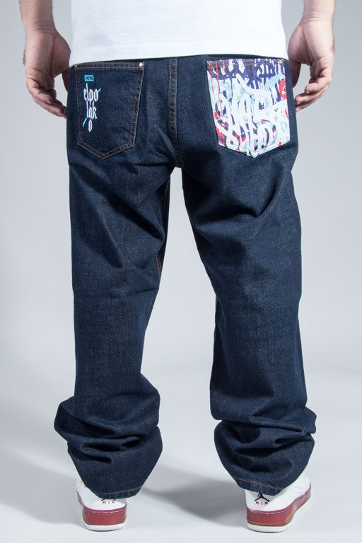 EL POLAKO JEANS BAGGY GRAFFITI DARK