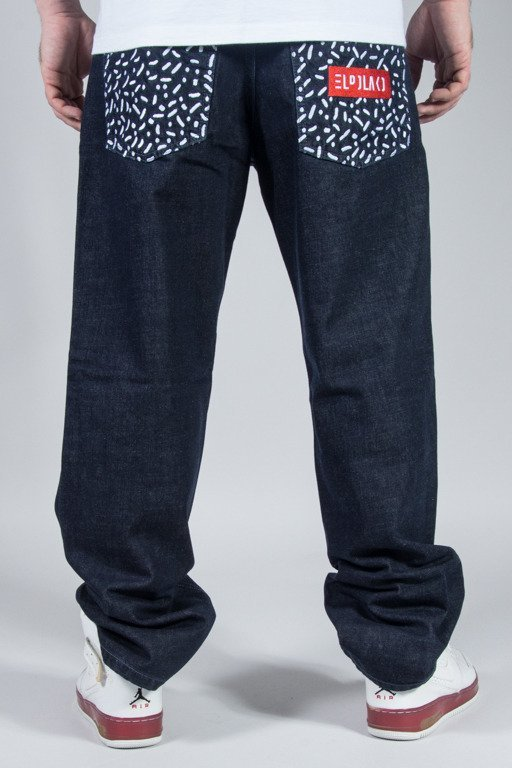 EL POLAKO JEANS REGULAR LINE AND DOTS DARK