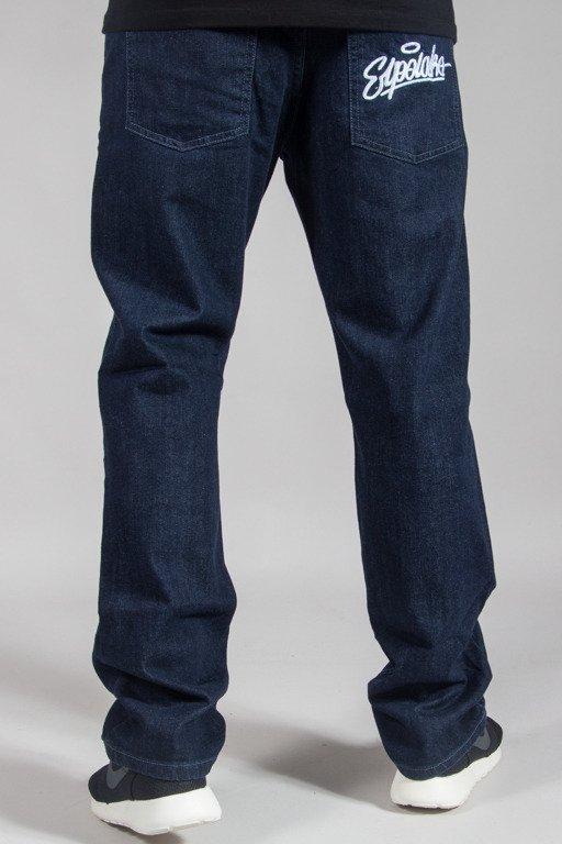 EL POLAKO JEANS SLIM HAND WRITTEN DARK