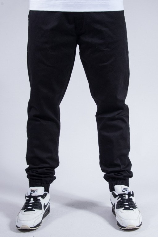EL POLAKO PANTS CHINO JOGGER SLIM CLASSIC BLACK