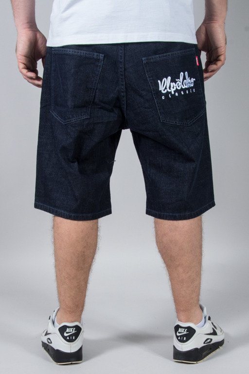 EL POLAKO SHORTS JEANS LOGO CUT DARK