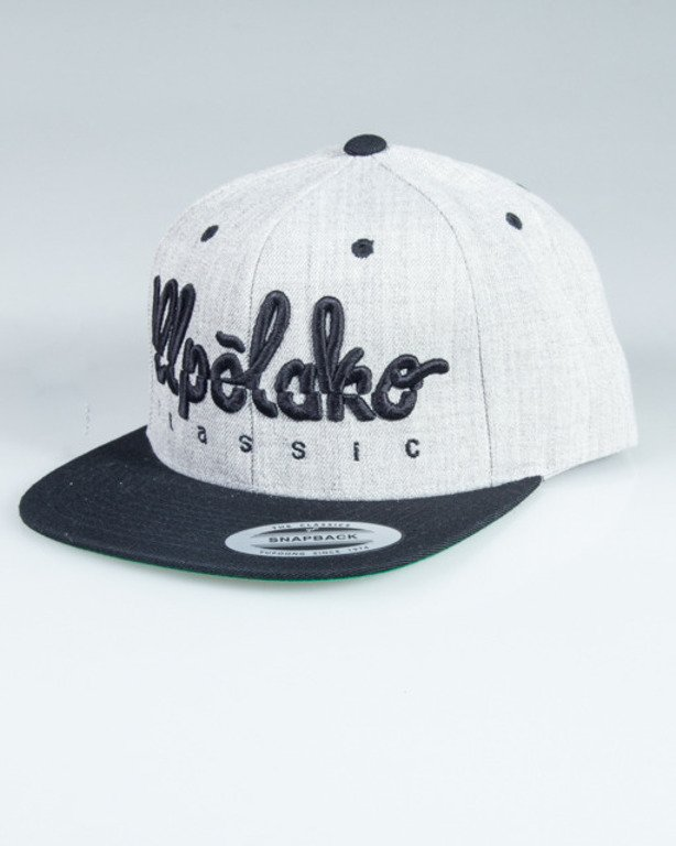EL POLAKO SNAPBACK LOGO CUT GREY-BLACK