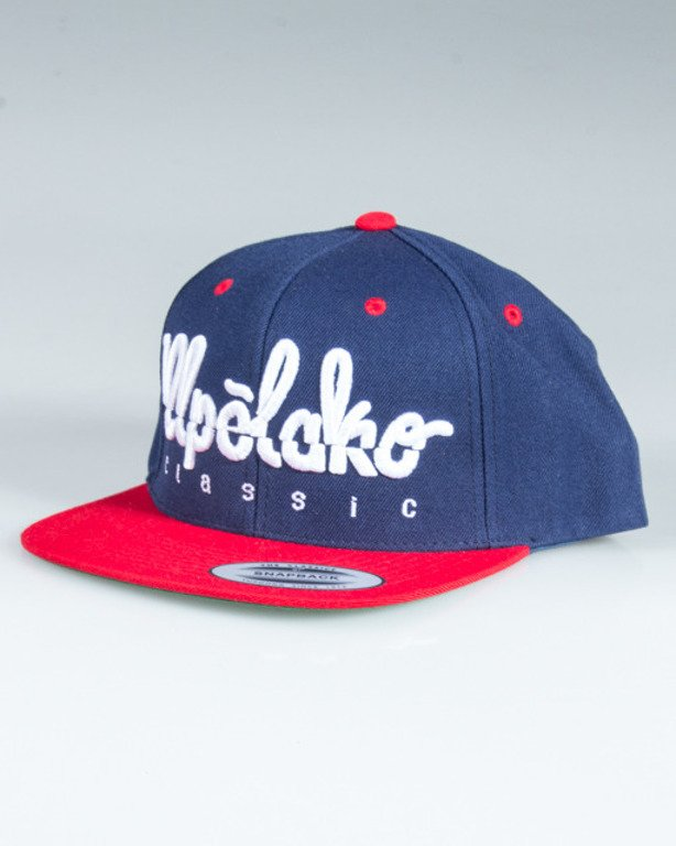 EL POLAKO SNAPBACK LOGO CUT NAVY-RED