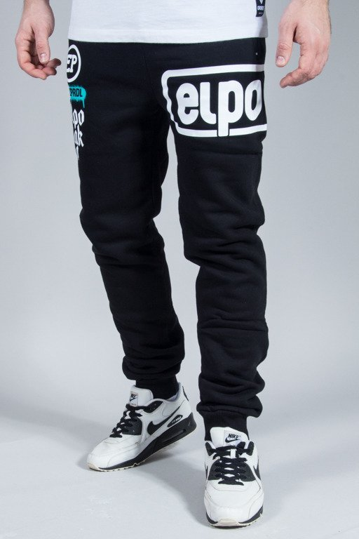 EL POLAKO SWEATPANTS BELOW BLACK