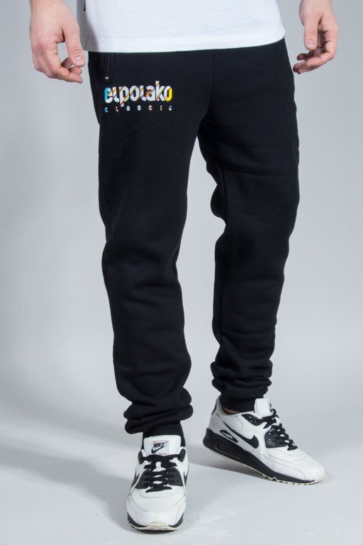 EL POLAKO SWEATPANTS CLASSIC LINE BLACK