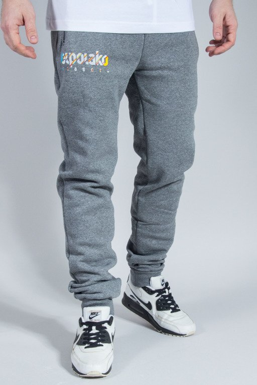 EL POLAKO SWEATPANTS CLASSIC LINE GREY
