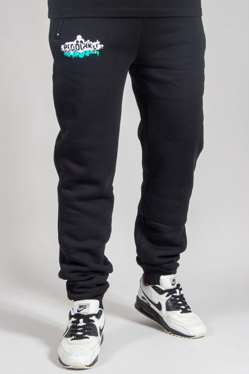 EL POLAKO SWEATPANTS FIT EP_PAINTS BLACK