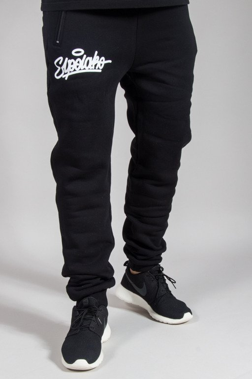 EL POLAKO SWEATPANTS FIT HAND WRITTEN BLACK