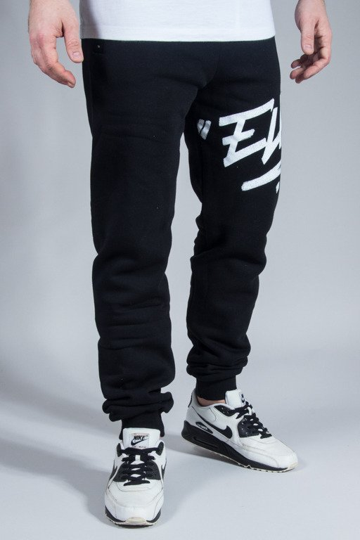 EL POLAKO SWEATPANTS LOGSON FIT BLACK