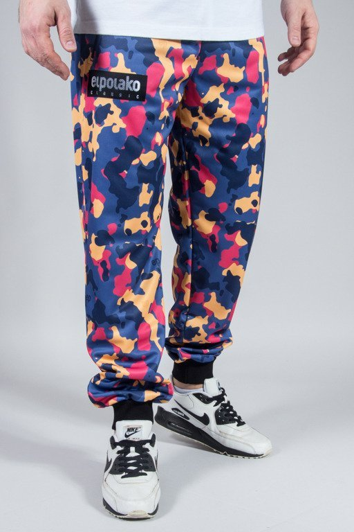 EL POLAKO SWEATPANTS PREMIUM CAMO COLOR BLUE