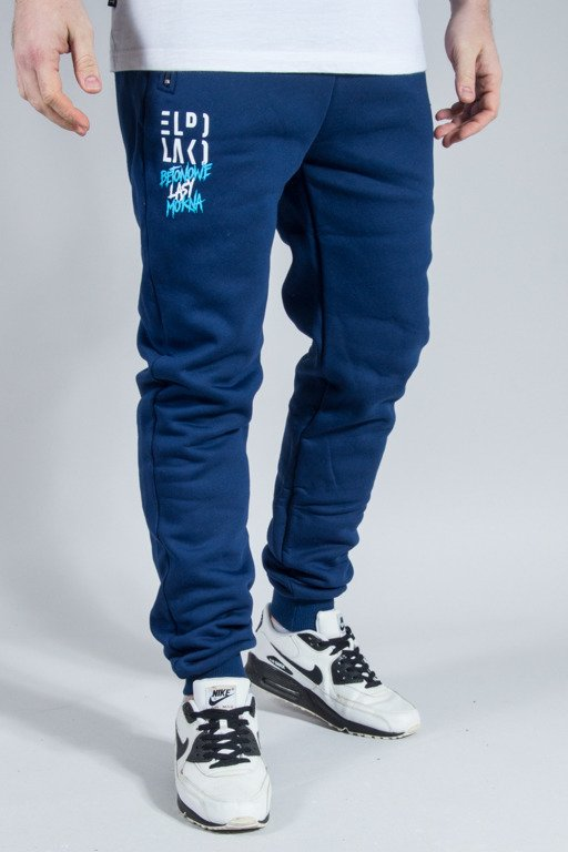 EL POLAKO SWEATPANTS PREMIUM CLASSIC FIT NAVY
