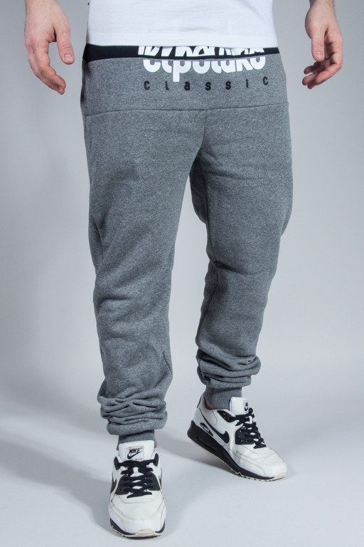 EL POLAKO SWEATPANTS PREMIUM CUT LOGO GREY