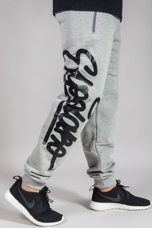 EL POLAKO SWEATPANTS REGULAR HAND WRITTEN MELANGE