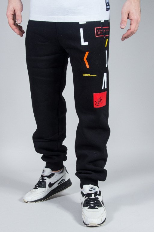 EL POLAKO SWEATPANTS REGULAR LETTERS BLACK