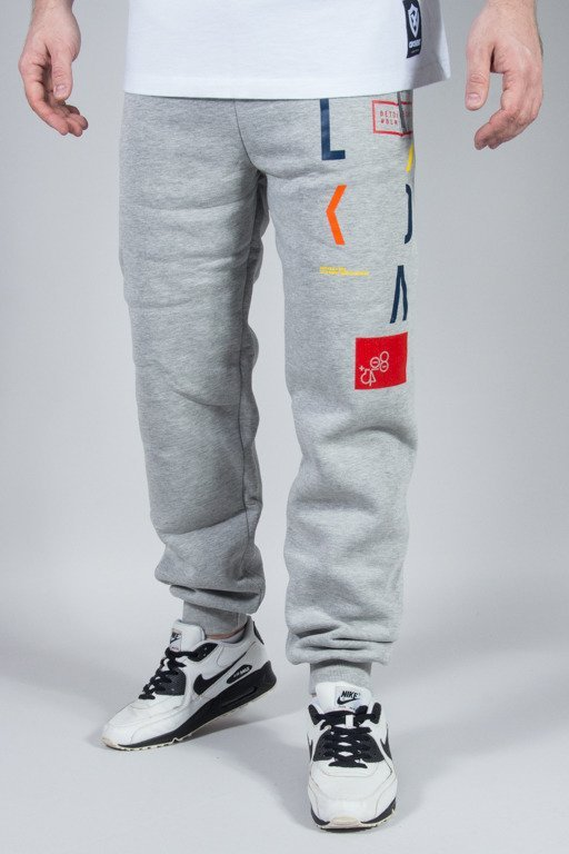 EL POLAKO SWEATPANTS REGULAR LETTERS GREY