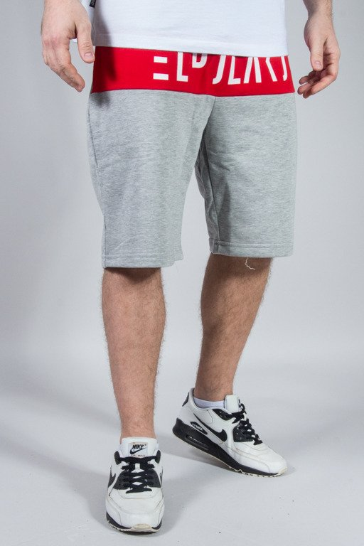 EL POLAKO SWEATSHORTS CUT GREY