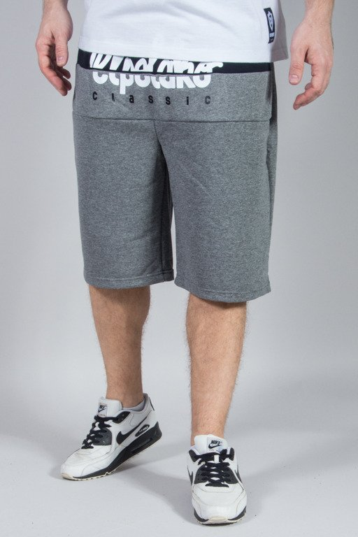 EL POLAKO SWEATSHORTS CUT LOGO GREY
