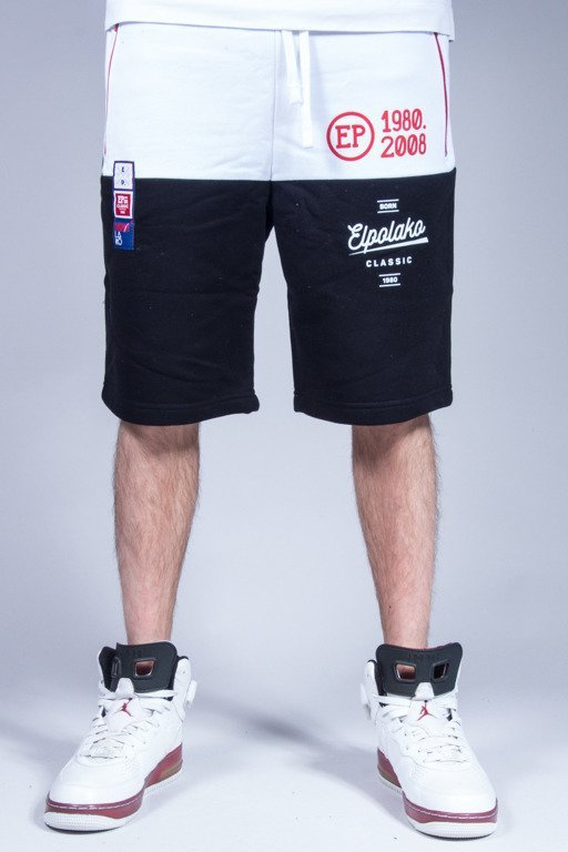 EL POLAKO SWEATSHORTS HALF COLOR BLACK