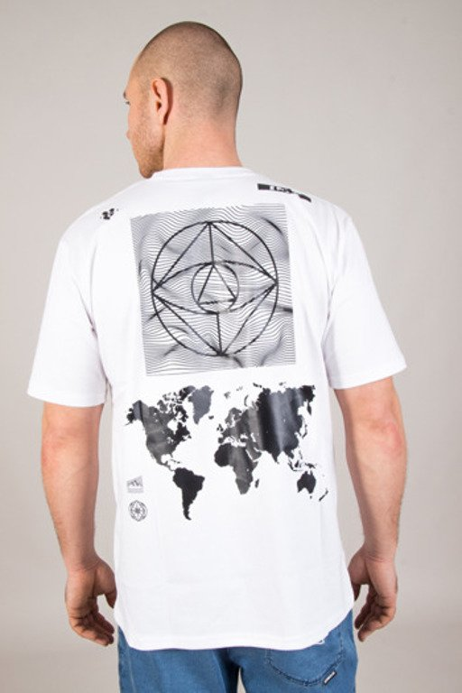 EL POLAKO T-SHIRT CYRCLE WORLD WHITE