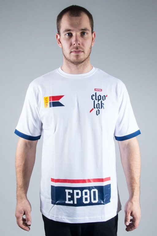 EL POLAKO T-SHIRT FLAG WHITE