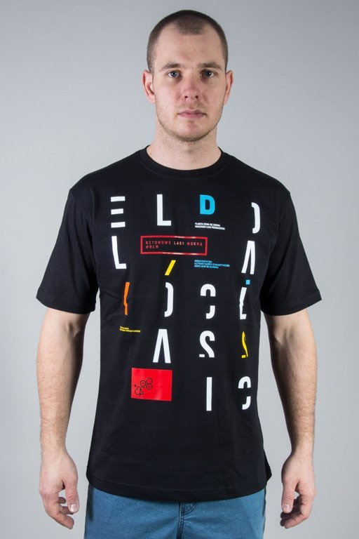 EL POLAKO T-SHIRT LETTERS CUT BLACK