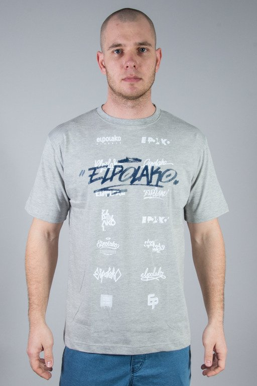 EL POLAKO T-SHIRT LOGOSY GREY