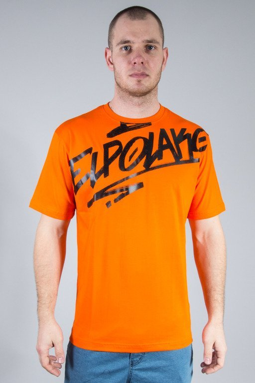 EL POLAKO T-SHIRT LOGSON ORANGE